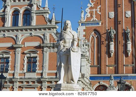 Sculpture of Roland at the Town Hall square in Riga, Latvia.