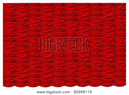 vector red silk curtain