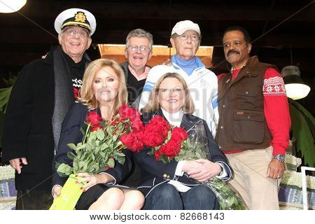 LOS ANGELES - DEC 30: Gavin MacLeod, Fred Grandy, Bernie Kopell, Ted Lange, Jill Whelan, Lauren Tewes at the Original