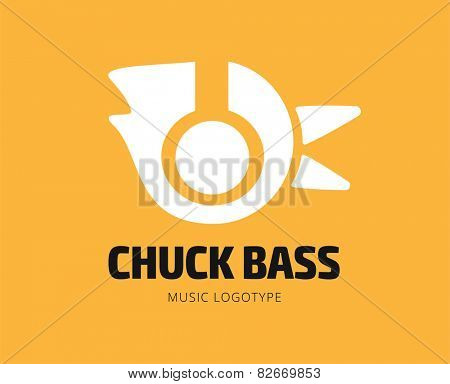 Abstract chuck bass logo template for branding and design