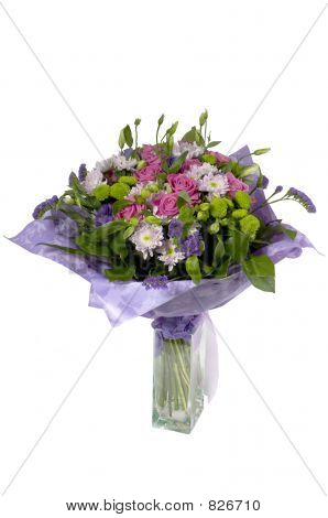 Bouquet from roses and chrysanthemums