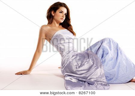 Woman In Glamorous Dress