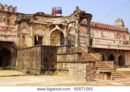 Ruins Of Afghan Architecture In Mandu, India