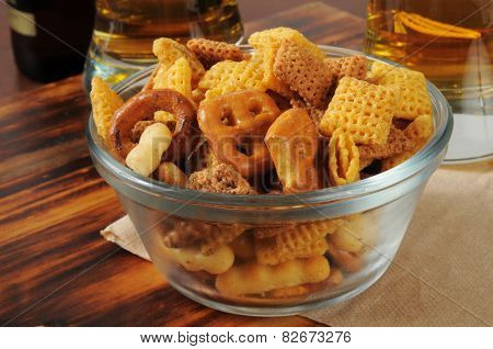 Snack Mix On A Bar