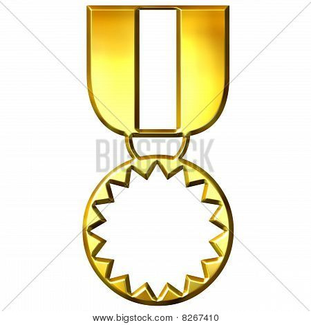 3D Golden Medal Of Honour
