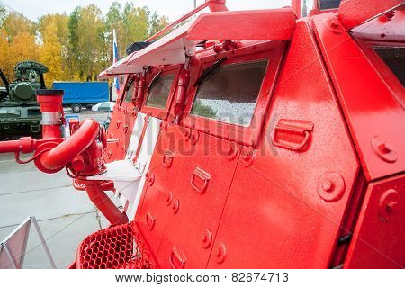 Special fire fighting vehicle SPM on exhibition