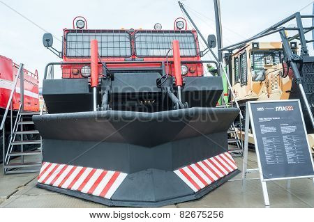 Fire fighting vehicle MPT-521 on exhibition