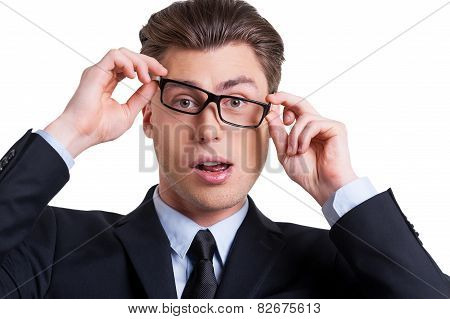 Businessman Grimacing