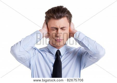 Businessman Sick And Tired