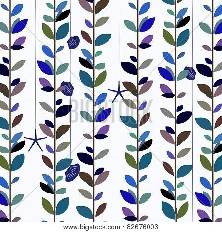 Blue tone nature leaf vine background.