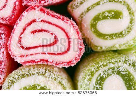 Tasty Turkish delight background