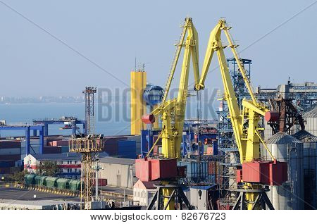 Odessa Sea Port Container Terminal ,ukraine,important Transportation Hub On Black Sea