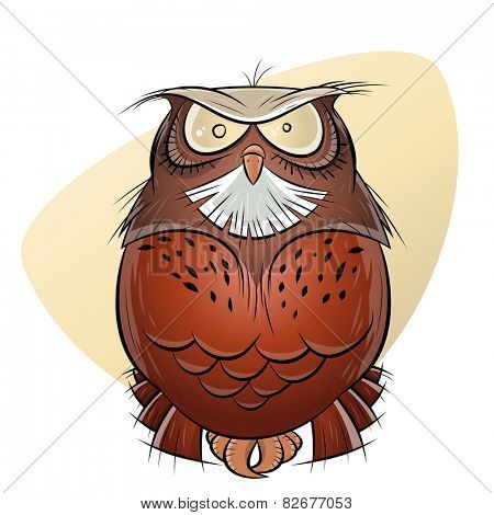 scary cartoon owl
