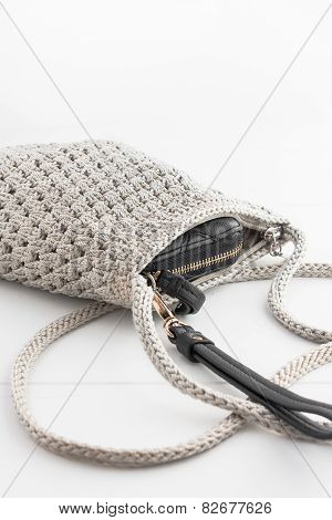 knitted sack purse