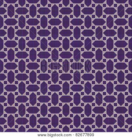 Retro violet ornate mosaic seamless plaid
