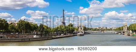 Eiffel Tower And Bridge Alexandre Iii