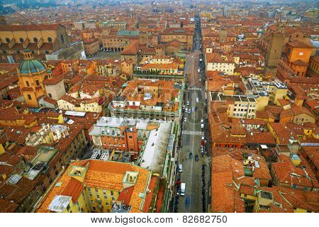 Aerial view of Bologna. Italy