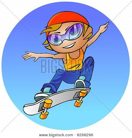 teenage girl on a skateboard