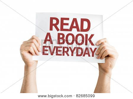 Read a Book Everyday card isolated on white background
