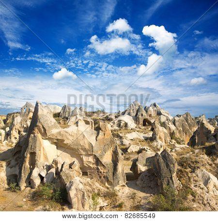 Rocks formations in Capadocia, Turkey