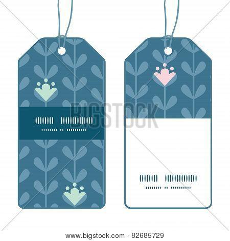 Vector blloming vines stripes vertical stripe frame pattern tags set