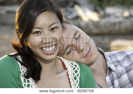 Big Smile On Young Chinese Girl