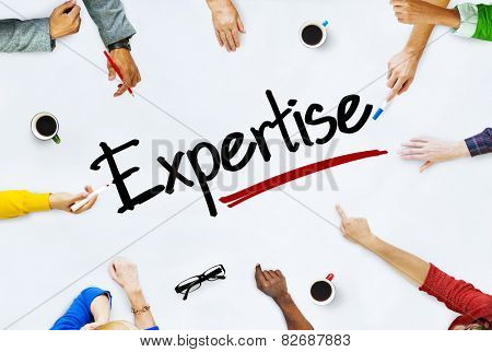 People Working and Expertise Concept