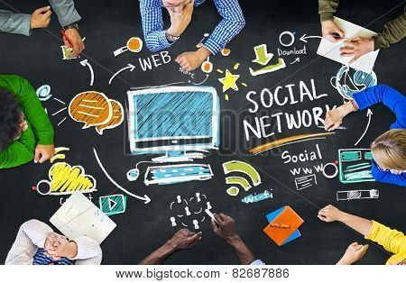 Social Network Social Media People Meeting Education Concept