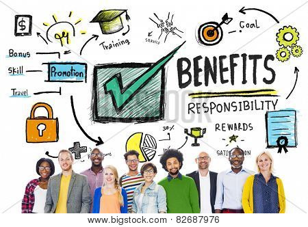Benefits Gain Profit Income Earning People Diversity Concept