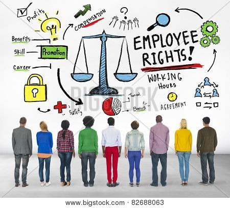 Employee Rights Employment Equality People Rear View Concept