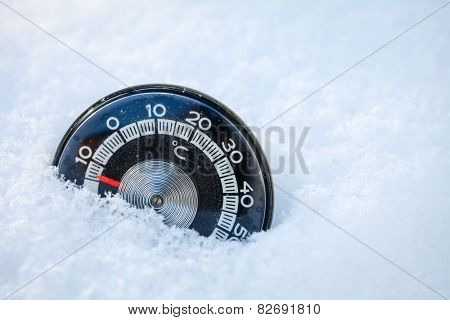 Cold weather low temperature concept