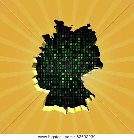 Germany sunburst map with hex code illustration