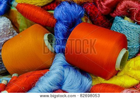 Silk Thread  In Country Of Asia,silk Production