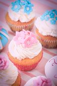 picture of sugarpaste  - delicious cupcakes dessert served for big party - JPG