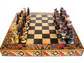 image of conquistadors  - A Chess set with Inca Indian and Conquistador pieces - JPG