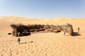 image of shisha  - Bedouin camp in the desert. Abu Dhabi United Arab Emirates