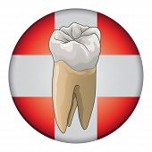image of molar  - Dental Care is an illustration of a design used for dentists - JPG