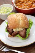image of brisket  - barbecue beef brisket sandwich - JPG