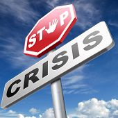 stock photo of stock market crash  - stop crisis recession and inflation stopping political economic financial downfall stock market crash  - JPG