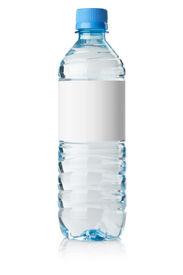 picture of bottle water  - Soda water bottle with blank label - JPG
