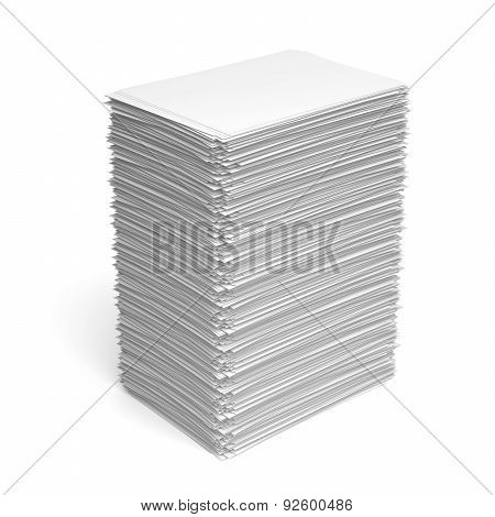 Pile Of White Paper Sheets