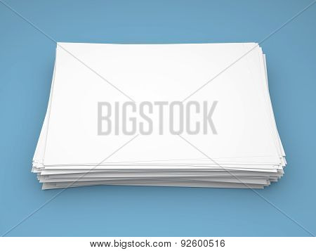 Pile Of White Paper