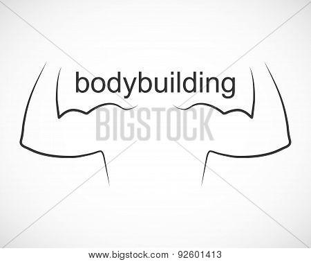 Bodybuilding Design And Sport Icon.
