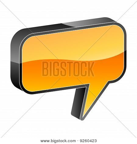 Talk Bubble 3D Icon