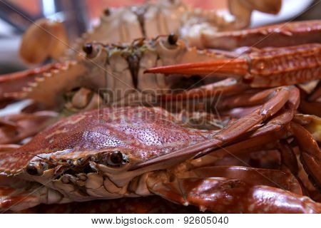 Boiled Crabs, Ready to cook for Thai Crab Curry