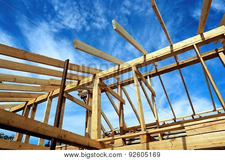 Installation Of Wooden Beams
