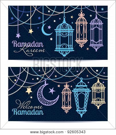 Ramadan Kareem. Islamic Background. Banners For Ramadan.