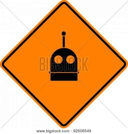 robot head sign