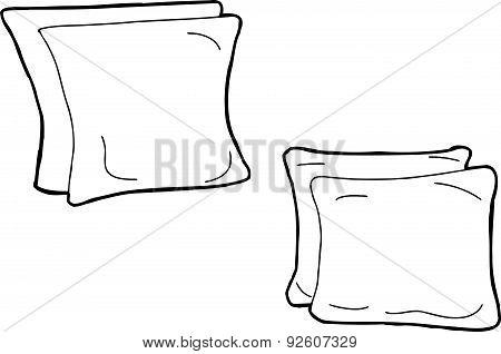 Outline Of Cartoon Cushions