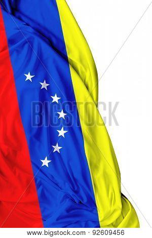 Venezuelan waving on white background